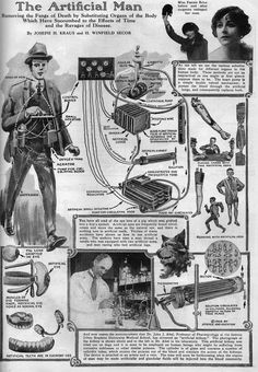 Building a Cyborg in the Roaring Twenties (November 1924 - Science and Invention magazine)