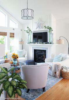 Seasonal Simplicity Fall Living Room Tour