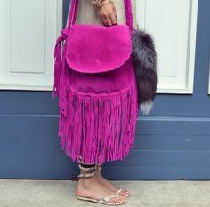 El bazar de Boho | Calientes flecos de color rosa - bolsos estilo boho y accesorios, python