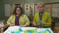 Stress-Free Quilting with Machine Embroidery, Part 2 Video from Sewing with Nancy. Nancy and embroidery guru Denise Abel teach you how to piece quilt blocks using a combination of machine embroidery and techniques borrowed from paper piecing. There's no precise measuring or cutting needed! Piece blocks by layering fabric over guidelines that the machine stitches onto stabilizer. Perfect blocks every time!