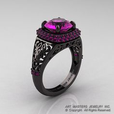 High Fashion 14K Black Gold 3.0 Ct Amethyst by DesignMasters, $2459.00