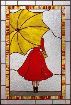 Discover recipes, home ideas, style inspiration and other ideas to try. Stained Glass Patterns Free, Stained Glass Quilt, Stained Glass Flowers, Stained Glass Crafts, Faux Stained Glass, Stained Glass Designs, Stained Glass Panels, Umbrella Art, Yellow Umbrella