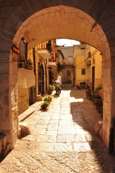 Loving the sandstone colored streets of Bari, Puglia, Italy