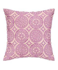 Look what I found on #zulily! Lilac Medallion Soirée Pillow by Peking Handicraft #zulilyfinds