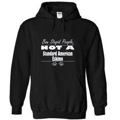 STANDARD AMERICAN ESKIMO - #hoodie novios #sweatshirt storage. SAVE => https://www.sunfrog.com/Pets/STANDARD-AMERICAN-ESKIMO-8463-Black-14582665-Hoodie.html?68278