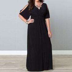 Elegant Black Long Slim Dress Chiffon Party Dresses  #Unbranded #Maxi #Festive