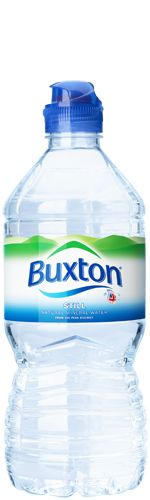 Buxton Water Bottle.  Spring water bottled in Derbyshire, England.  Owned by Swiss company Nestlé.
