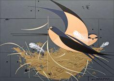 Barn swallows ~ Charley Harper