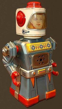 vintage+toy+robots | vintage antique tin toy robots wanted antique vintage space robots ...