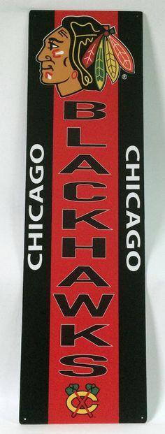 #Chicago Blackhawks Nhl Aluminum Wall Sign - Rare Item - from $75.0