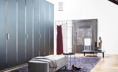 Con-Tradition room divider styled for Flou catalogue