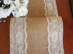 Burlap table runner rustic wedding table runner by DaniellesCorner