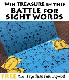 for Sight Word Games Battle for Sight Words Game - what a fun, clever FREE printable game to help kids practice dolche sight words! Perfect for Kindergarten, grade, grade, and grade students and homeschoolers. Teaching Sight Words, Sight Word Practice, Sight Word Games, Sight Word Activities, Spelling Word Games, Early Learning, Kids Learning, Word Games For Kids, Literacy Games
