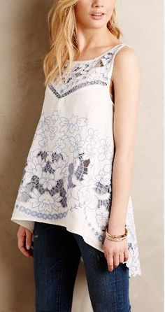 embroidered cutwork top