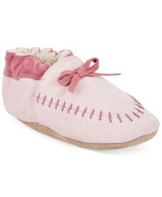 Robeez Baby Girls' Cozy Moccasin Shoes