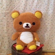 "24"" Fuzzy Rilakkuma Plush Rilakkuma, brown, 24"" long, fuzzy, squishy, and soft!! San-x Other"