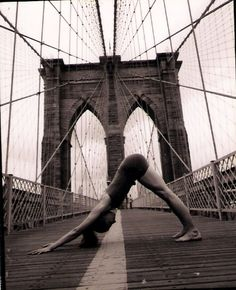 Yoga + Brooklyn Bridge = LOVE