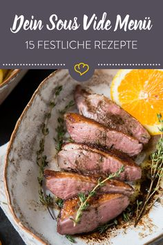 15 ideas for your sous vide menu for Christmas or New Year& Eve - This year, thanks to sous vide, you can prepare your festive dinner in a relaxed manner. Let yourse - Gluten Free Appetizers, Meat Appetizers, Gluten Free Recipes For Dinner, Paleo Dinner, Gluten Free Sugar Cookies, Gluten Free Banana Bread, Paleo Pizza, Xmas Dinner, Meat Recipes