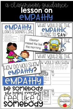 Teaching empathy can be difficult when working with elementary students. This packet of classroom guidance resources helps you teach the character trait of empathy in a fun and interactive way. Teaching Character, Character Trait, Character Education, Physical Education, Elementary School Counseling, Career Counseling, School Counselor, Counseling Activities, Elementary Schools