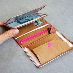 Portemonnaie aus SnapPap Schnittmuster
