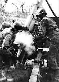 FEB artillery 1st shot in Italy.