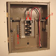 pictorial diagram for wiring a subpanel to a garage electrical Electrical Circuit Breaker Panel Diagram how to add more electrical circuits do it yourself sub panel installation