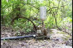 World's Greenest  WATER PUMP ~ Hydraulic Ram Pumps are very old technology that pump water using gravity and 2 valves to generate a repeating water hammer effect.