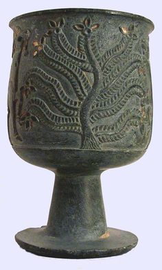 Jiroft, Iran - artifact decorated with tree of life. Late 3rd mill. BC, early Bronze Age Culture