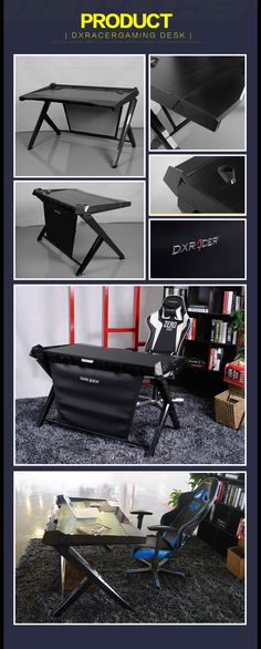 DXRacer Gaming Desk on Pre-Order Black.#vintagedecor #vintagemodernmix #neutraldecor #rustic