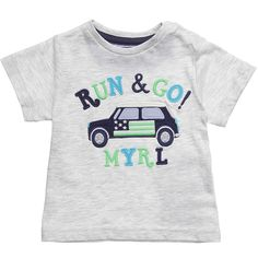 Mayoral Baby Boys Grey Cotton Jersey T-Shirt | CHILDRENSALON
