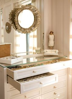 jewelry or makeup storage  ▇  #Home #Design #Decor   http://irvinehomeblog.com/HomeDecor/  - Christina Khandan - Irvine, California ༺ ℭƘ ༻
