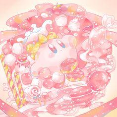 """あめさんのツイート: """"ウルトラスーパースペシャルぽよペチーノ… """" Kawaii Drawings, Cute Drawings, Kirby Memes, Dibujos Tumblr A Color, Kirby Nintendo, Kirby Character, Japon Illustration, Dibujos Cute, Kawaii Wallpaper"""