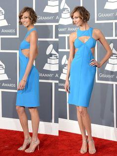 Karlie Kloss in Michael Kors      Grammy Awards 2013  http://frshsqueezed.tumblr.com/post/42901698109/anetts-best-dressed-award-goes-to#