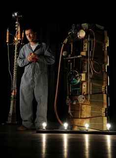 Steampunk WaterTank+TeslaCoil by MatthewSilva  Artisan Crafts / Other©2008-2015 MatthewSilva      Prop Water Tank and Tesla Coil(one of two depicted) made for the set of That's Magic. Both props where built by myself and Bill Johnson.  Actor Mark___ is depicted in the photo Photo by Luanne Dietz