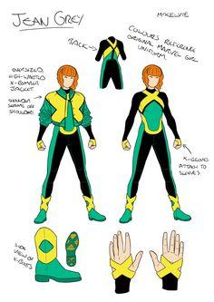 X-Men Blue: Jean Grey design by Jamie McKelvie X Men Costumes, Blue Costumes, Marvel Girls, Marvel Heroes, Marvel Vs, Jean Grey Xmen, Jamie Mckelvie, Character Design Disney, Design Alien