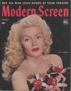 Lana Turner on the December 1944 Modern Screen