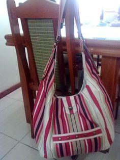 Maxi-bolsa em tecido de decoração!
