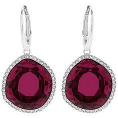 Swarovski Breeze Red Pierced Earrings
