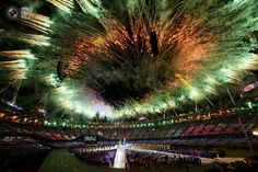 Fireworks during the closing ceremony of the London 2012 Olympic Games at the Olympic Stadium. PASCAL LAUENER/REUTERS