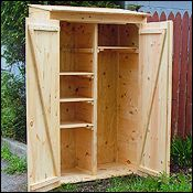 2x4 Garden Closet Storage Cottage Shed Barn Kit Plans from Jamaica Cottage Shop.