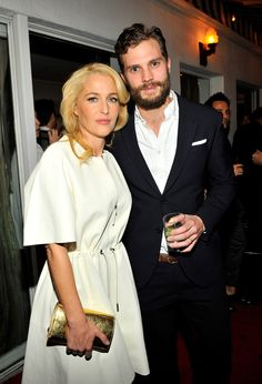 Jamie and Gillian Anderson at W Magazine party!! Both looking sexy!! everythingjamiedornan.com