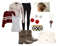 Casual But Not Harmful by kristyivette on Polyvore featuring polyvore, fashion, style, Velvet by Graham & Spencer, VILA, Citizens of Humanity, Steve Madden, ZALORA and Kenneth Jay Lane