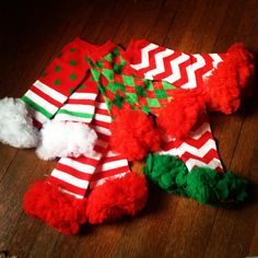 Christmas leg warmers for your little! #instagram @thetinythrifter. Www.facebook.com/thetinythrifter