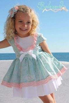 Baby Dress Design, Baby Girl Dress Patterns, Baby Girl Dresses, Cute Dresses, Vintage Baby Dresses, Little Girl Outfits, Little Girl Dresses, Kids Outfits, Baby Girl Fashion
