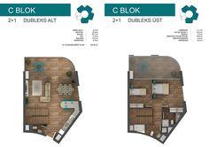 C BLOK 2+1 DUBLEKS ALT/ÜST
