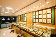 Jewellery shop at ratnagiri, designed by cultural's interior designer jewelry store design, jewelry show Shop Interior Design, Exterior Design, Interior And Exterior, Jewelry Store Design, Jewelry Shop, Designer Jewelry, Food Truck, Jewellery Showroom, Small Tiny House