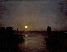 Joseph Mallord William Turner 'Moonlight, a Study at Millbank', exhibited 1797
