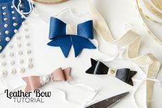 How to Cut Leather with your Silhouette:: a leather bow tutorial. These bows are a breeze to make with a Silhouette! Yep, you can cut leather with a CAMEO!