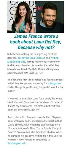 Lana Del Rey and James Franco via Mashable.Com #LDR