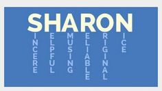 sharon - What Does My Name Mean? Names With Meaning, Artistic Photography, Meant To Be, Projects To Try, Lettering, Words, Quotes, Casseroles, Sticker